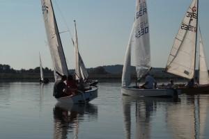 Piraten segeln auf dem Rangsdorfer See