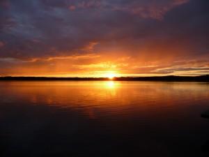 Weihnachtss-Abendsonne am Rangsdorfer See